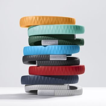 Jawbone UP Fitness Gadget--So cool! This bracelet syncs to your iphone or android. It…