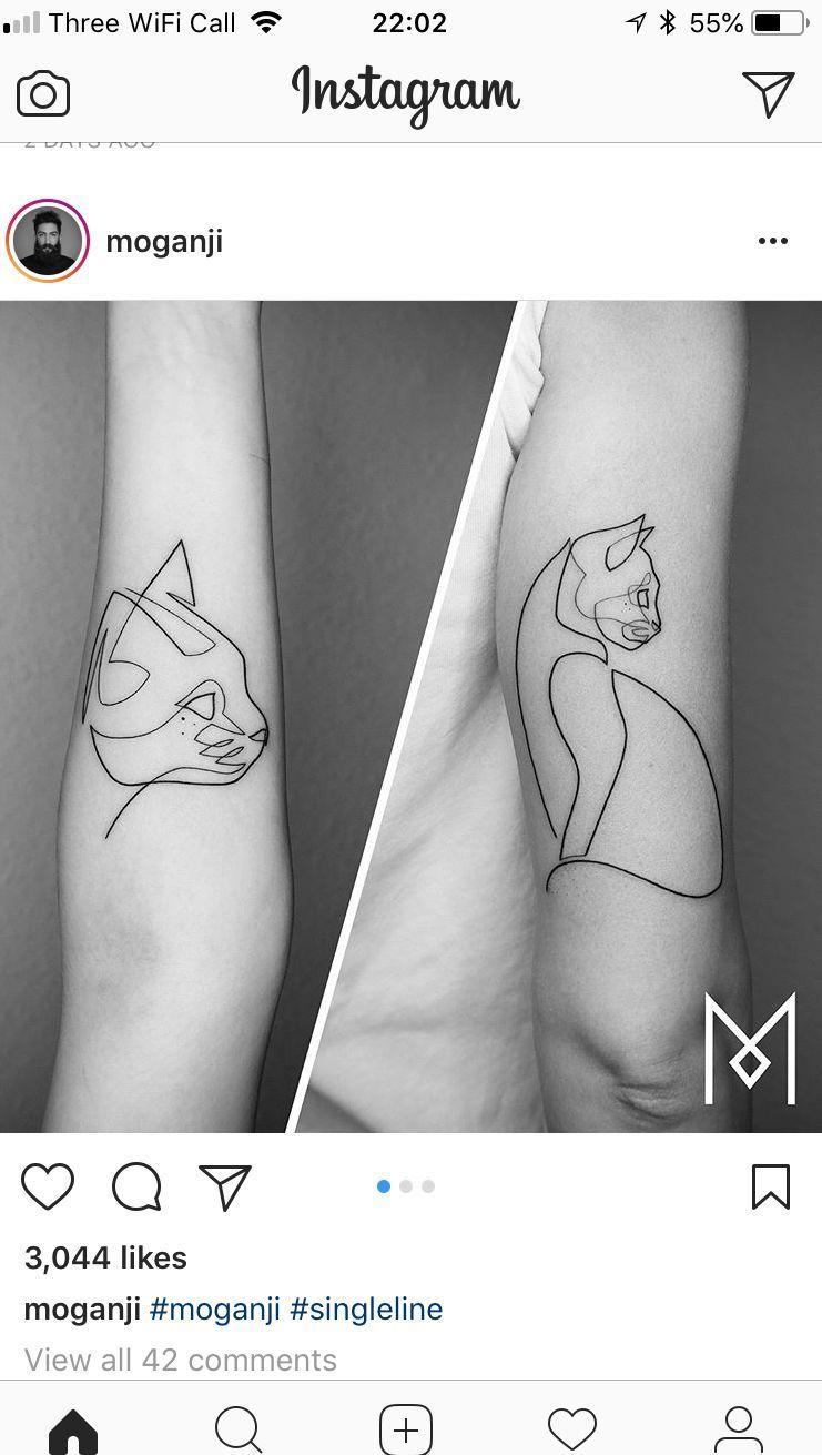 40 Simple Cat Tattoos Designs For Cat Lovers Tattoos Cattattoos In 2020 Cat Tattoo Designs Tiny Cat Tattoo Cat Tattoo Simple