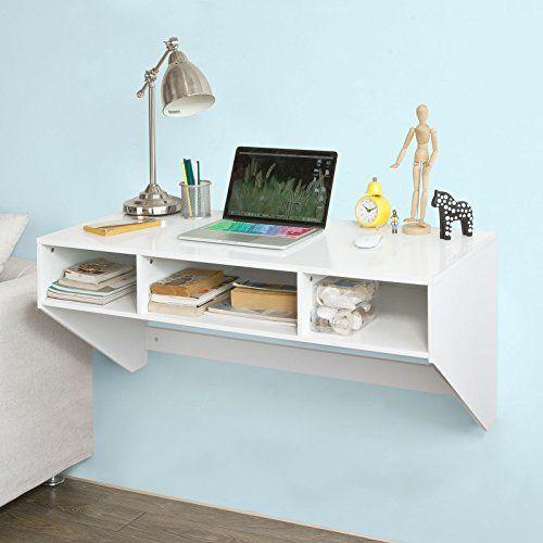 SoBuy Wandtisch In Wei Wandschrank Schreibtisch Computertisch Arbeitstisch