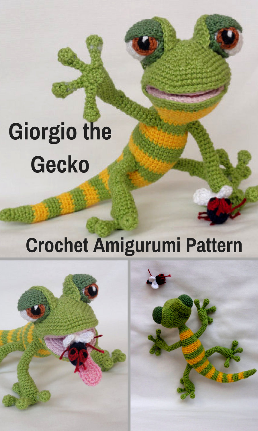 Giorgio the Gecko is a sweet crocheted amigurumi doll that would ...