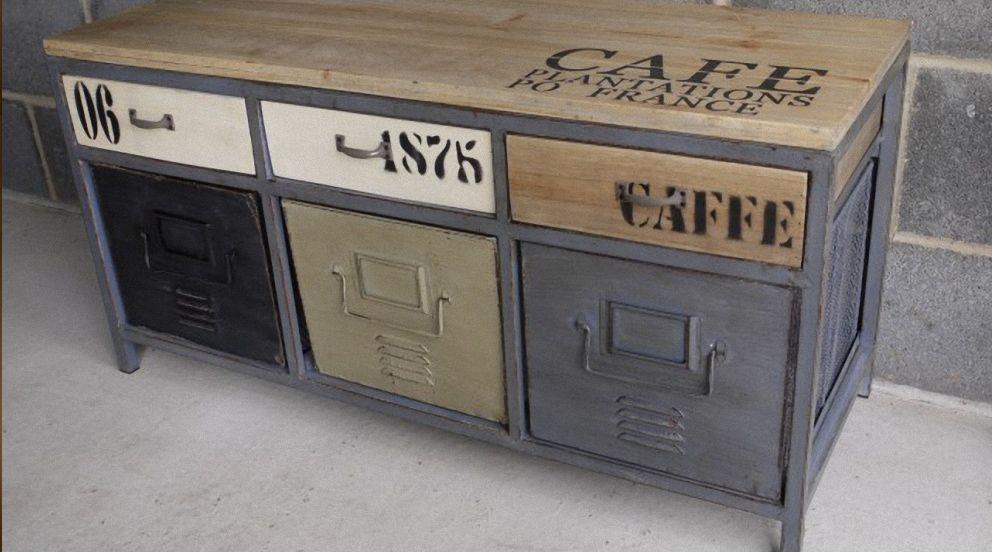 Pinterest france - Restauration meuble industriel ...
