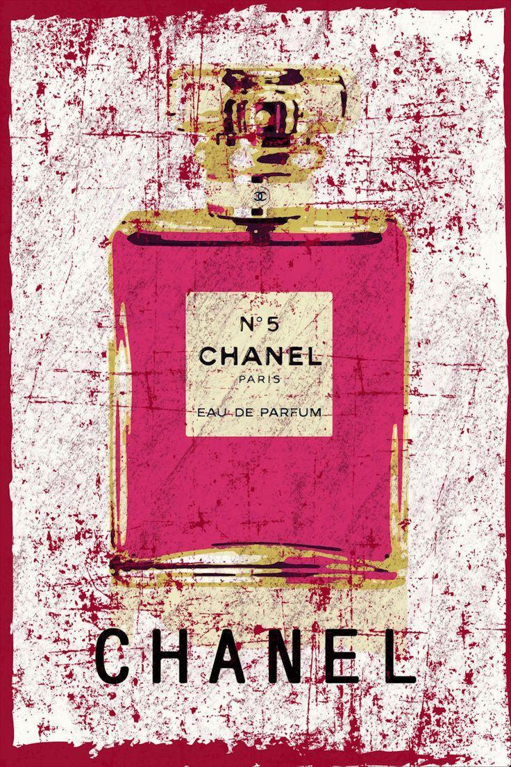 Grunge Abstraktes Chanel Nr 5 ポップアート ポスター 香水