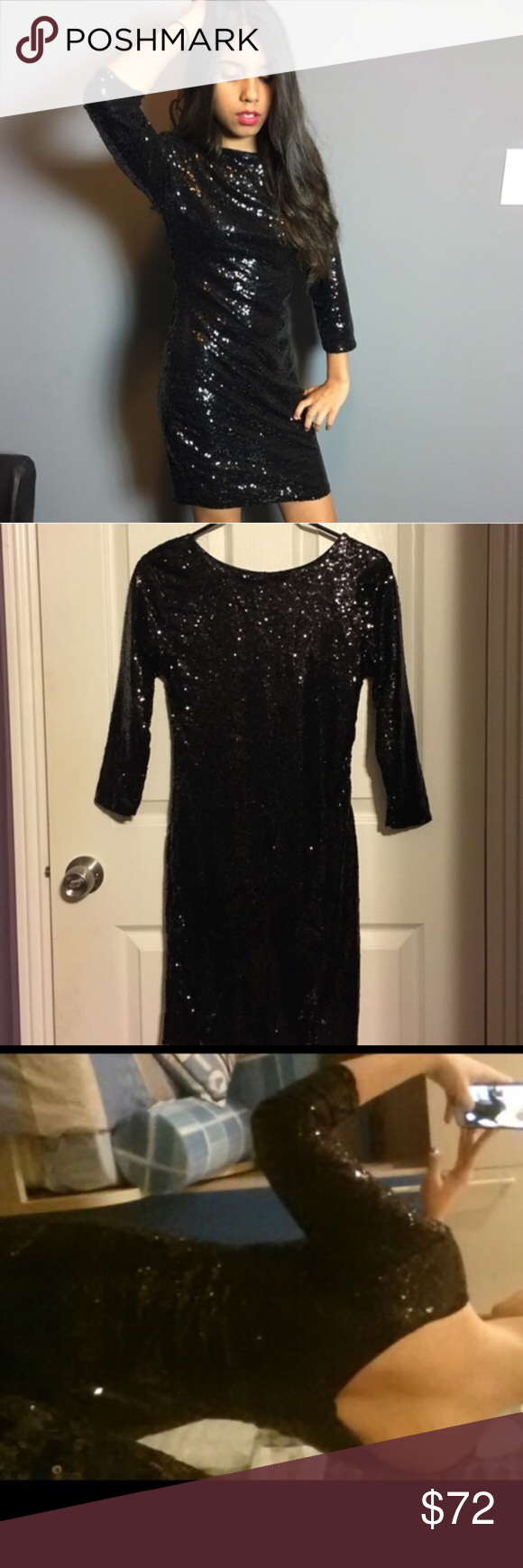 Sexy black sequined dress boutique pinterest sequins and