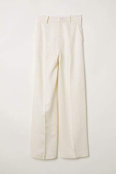 Photo of Wide-leg Pants – Cream – Ladies | H&M US