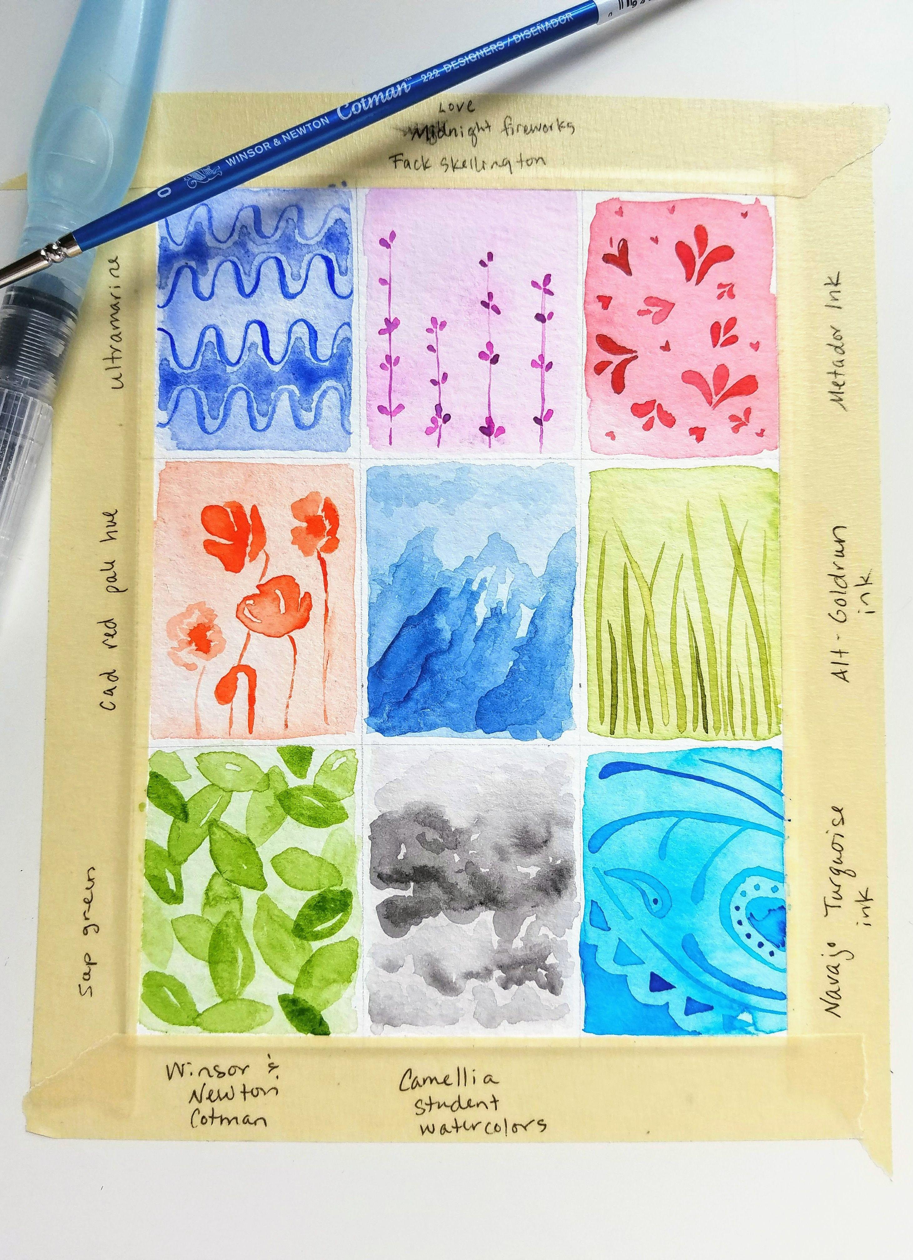 Monochrome Watercolor Designs Watercolor Design Monochromatic