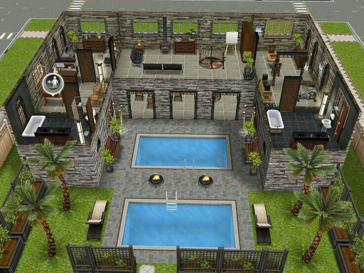 The sims house layouts also best freeplay images on pinterest design rh