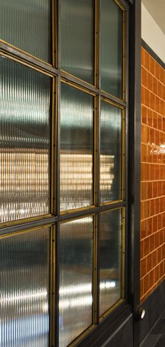 Reeded Glass Panelling Material Texture Pattern