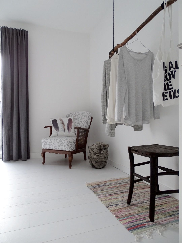 Skandinavische Schlafzimmer Garderobe selber bauen, Diy