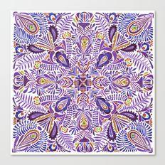 Gloomy purple mandala pattern Canvas Print