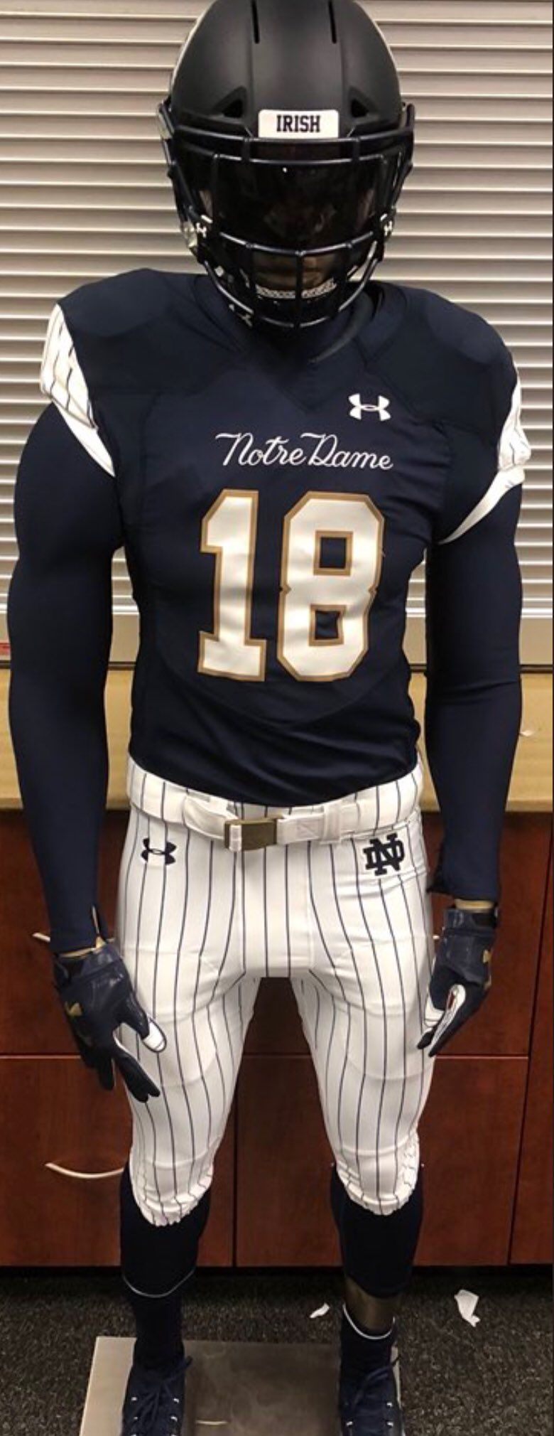 online store 16b89 8023a Notre Dame uniform for game at Yankee Stadium | ND & Vikings ...