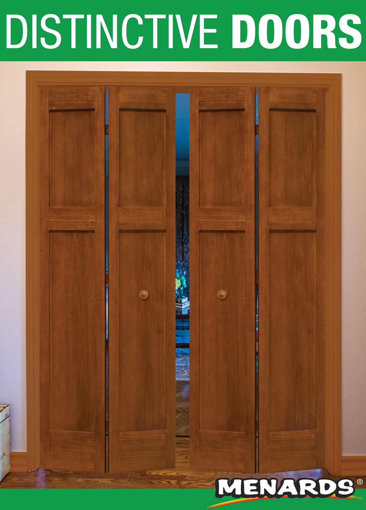 Mastercraft Wood Panel Doors Are A Tried And True Classic This Three Panel Bi Fold Door Comes Complete With A Prepaint Bifold Doors Wood Paneling Panel Doors