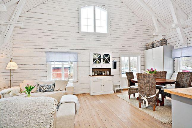 Blanco en una casa de madera my leitmotiv cabin living