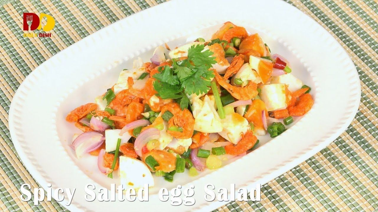 Spicy salted egg salad thai food yum kai kem spicy salted egg salad thai food yum kai kem youtube forumfinder