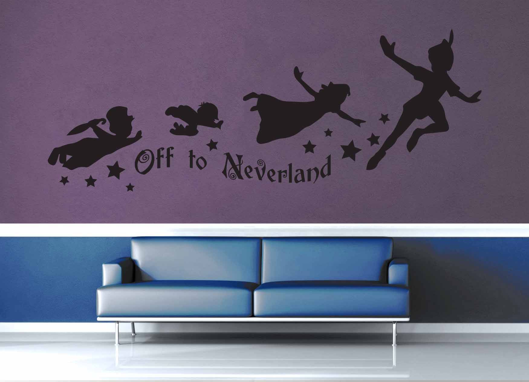 Off To Neverland  Peter Pan Quote  Wall Decal
