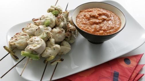 Bbc Food Recipes Chicken Kebabs With Romesco Sauce Buffet