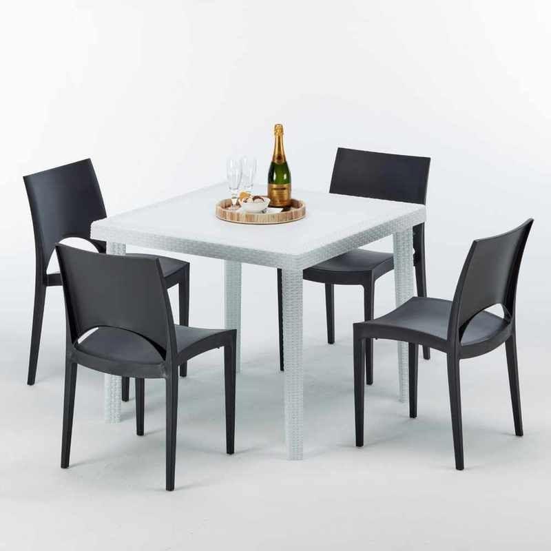 Salon de jardin in 2019 | Square tables, Colorful chairs, Table