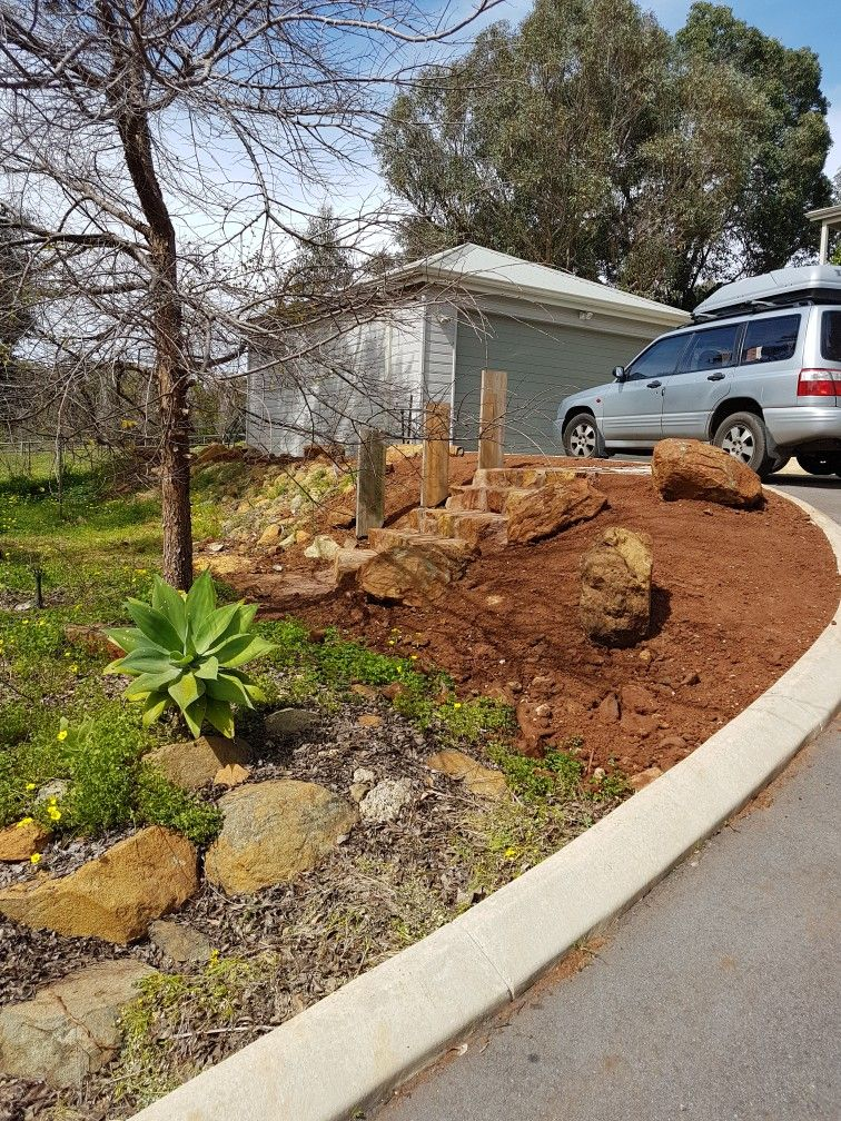 Red Stones For Garden Local stone steps and top landing area love the red dirt now for local stone steps and top landing area love the red dirt now for the workwithnaturefo