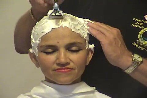 Video of woman getting head shaved remarkable, this