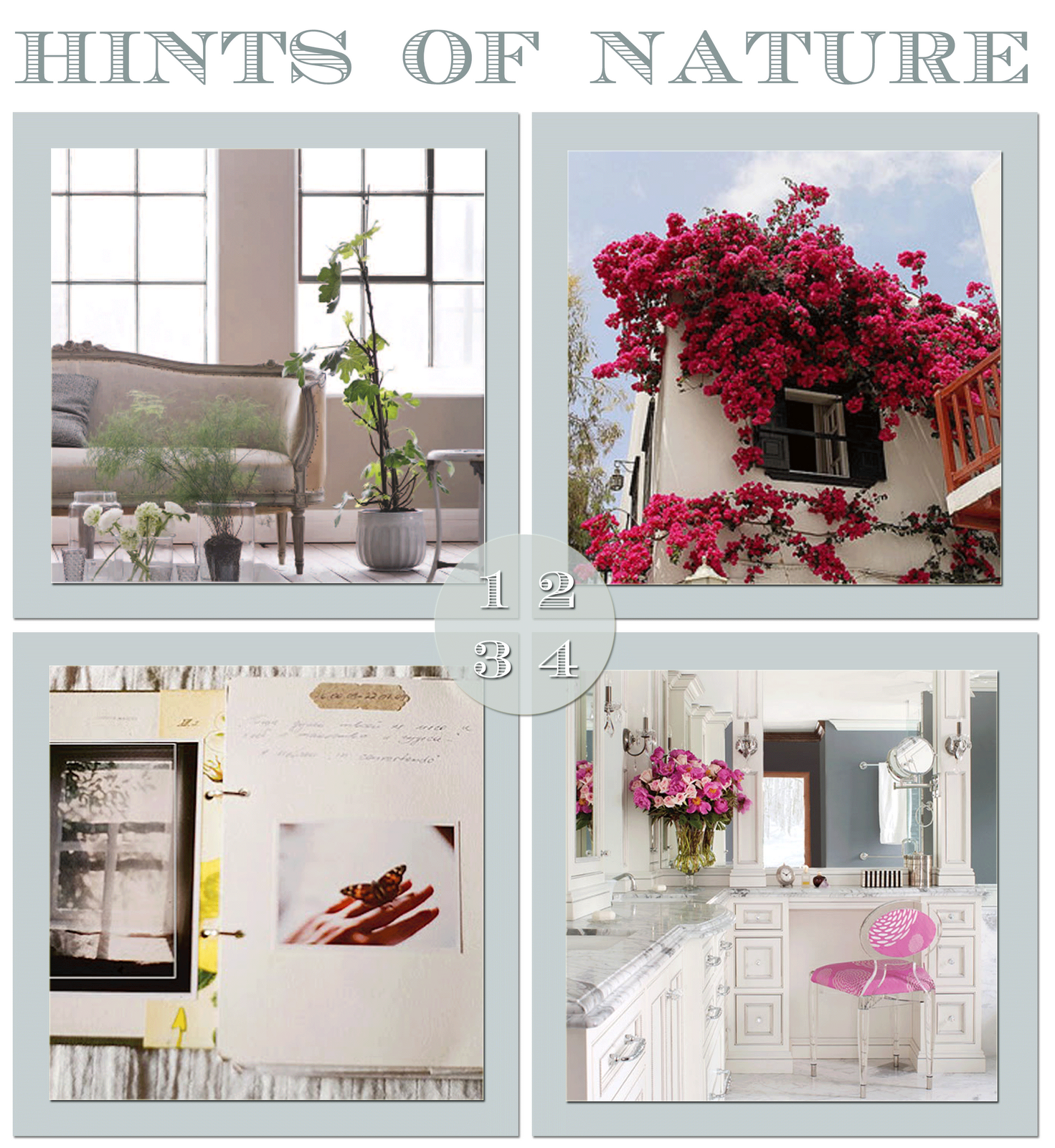 botanical touches to rooms