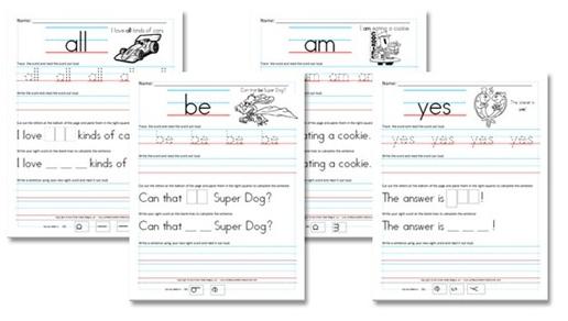 Free Kindergarten Sight Word Sentence Worksheets Money Saving Mom Sight Words Kindergarten Activities Kindergarten Worksheets Sight Words Pre Primer Sight Words