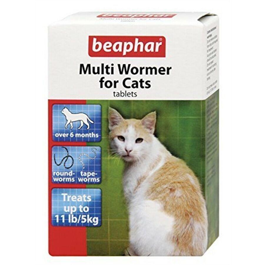 Beaphar Chat Multiwormer 12 Comprim S Paquet De 6 Tablets