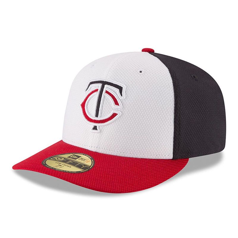 Minnesota Twins New Era Road Diamond Era Low Profile 59FIFTY Fitted Hat -  White Red 321ffe19eaab