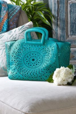 Riviera Bag - Vegan Leather Bag, Paisley Leather Bag | Soft Surroundings