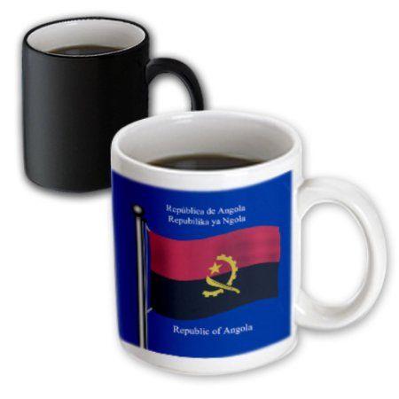 3dRose The waving flag of Angola with the Republic of Angola in English, Portuguese and Kikongo , Magic Transforming Mug, 11oz