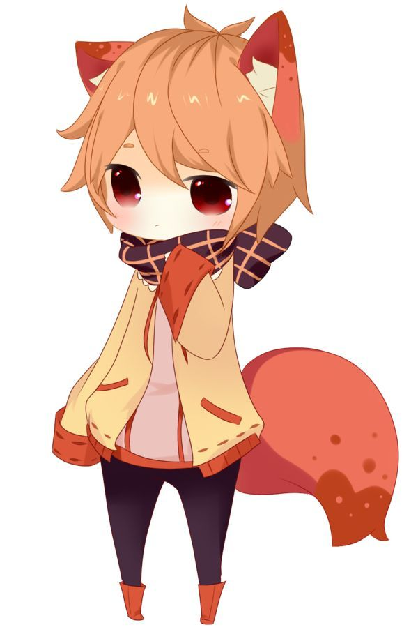 Anime Kitsune With Orange Hair
