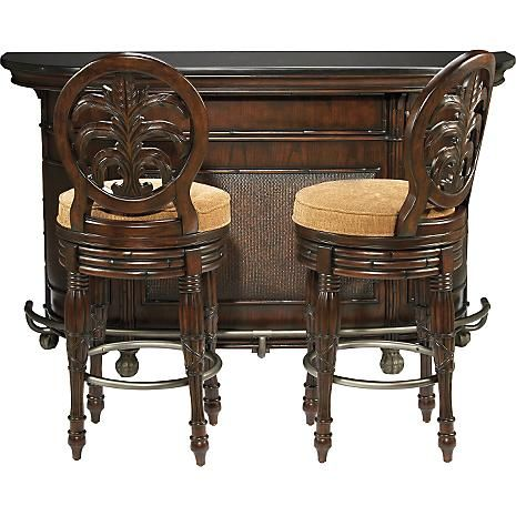 American Signature West In s Collection brings to mind the grace and ambiance of exotic lands This handsome West In s Bar Set is a great