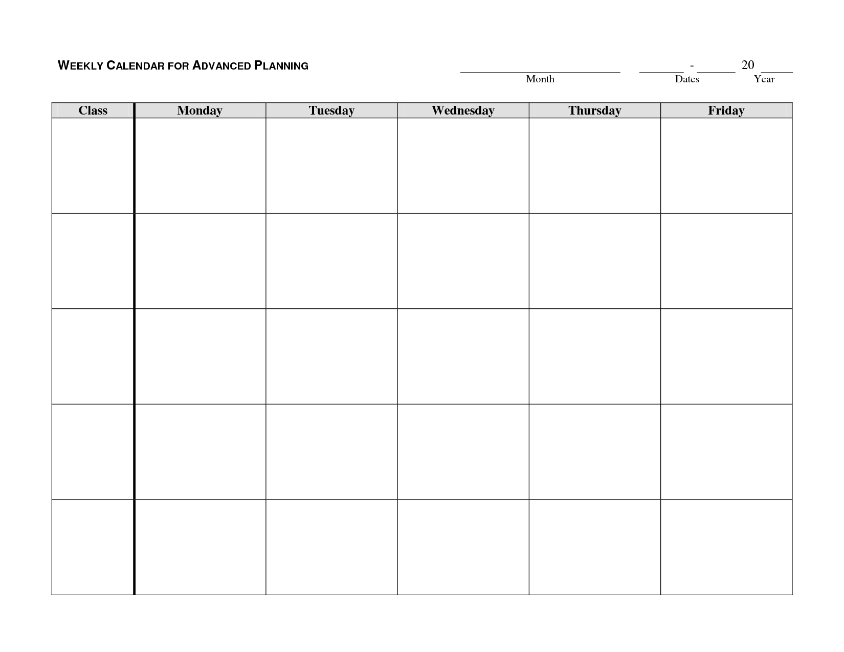 Calendar Planner Template : Weekly calendar template google search autism school
