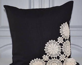 Items similar to Vintage Doily Pillow Light Green on Etsy