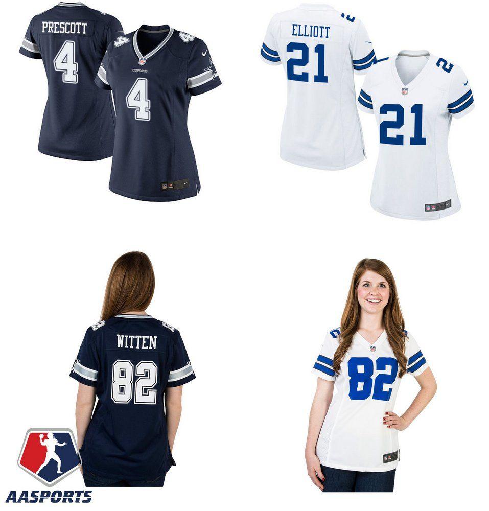 Camisa Dallas Cowboys 4 Dak Prescott 21 Ezekiel Elliott 82