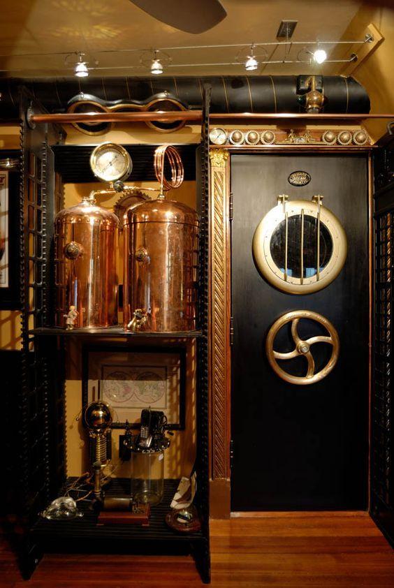 Epingle Par Plombier Serrurier Paris Sur Maison Cuisine Steampunk Deco Steampunk Meubles Steampunk