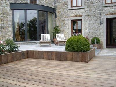 bois et pierre terrasse pinterest gartenideen und. Black Bedroom Furniture Sets. Home Design Ideas