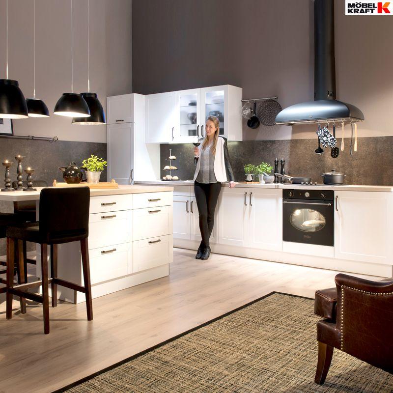 wei e k chen schlichtes design gro e wirkung gefunden bei m bel kraft k che home decor. Black Bedroom Furniture Sets. Home Design Ideas