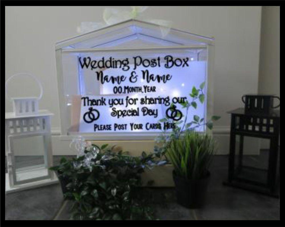 Personalised Wedding Card Post Box Sticker  DIY Post Box  Card Box