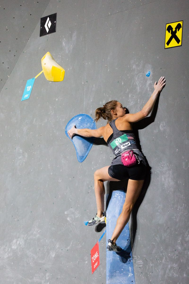 Qualification for the first Olympic sport climbing