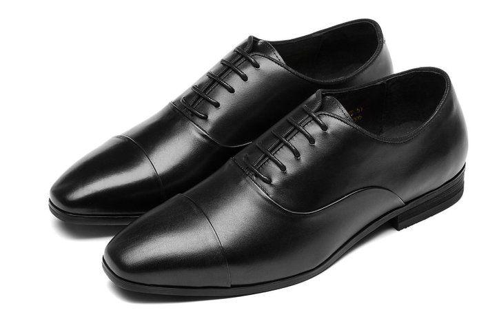3d2435815c346 OPP Men's Elegant Low-heel Pointed-toe Lace-up Leather Oxfords ...
