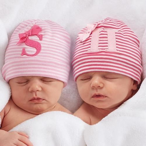 Initial Monogrammed Baby Hat for Girls - Largest Twin Store & Twin ...