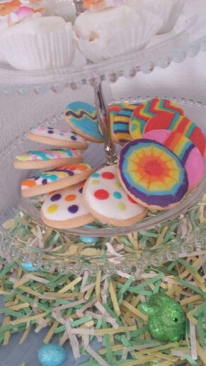 Iced egg shaped sugar cookies from The Mixing Bowl Bakery Richmond ...