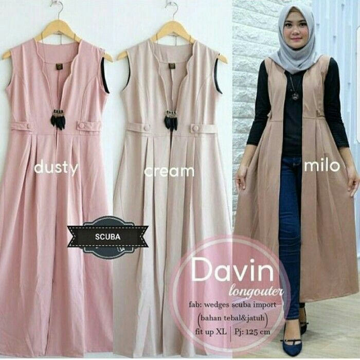Fn Davin Long Outter Rp 115 000 Material Wedges Scuba Size