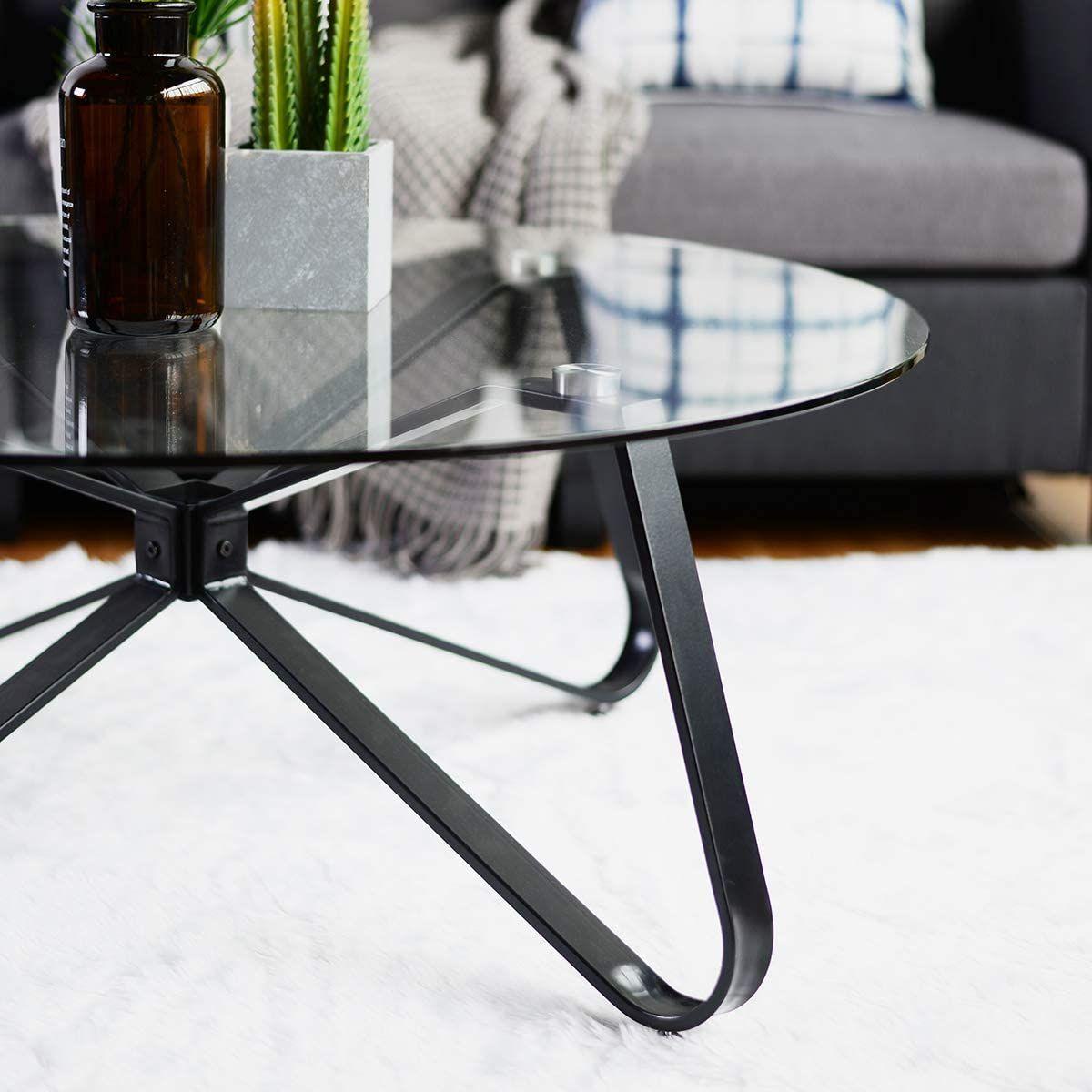 Table Basse En Verre Trempe Table De Salon Table De Canape Minimaliste Moderne Table De Salon Table Basse Verre Trempe Table Basse Verre