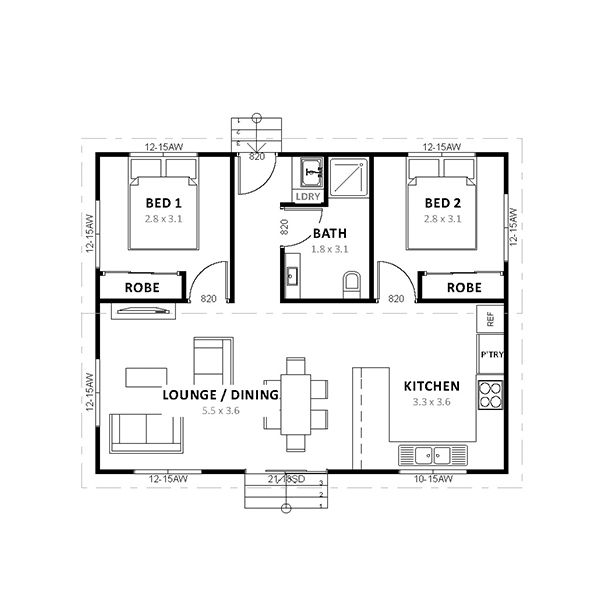 Townhouse Floor Plan 3 Car Garage Google Search: Converting A Double Garage Into A Granny Flat