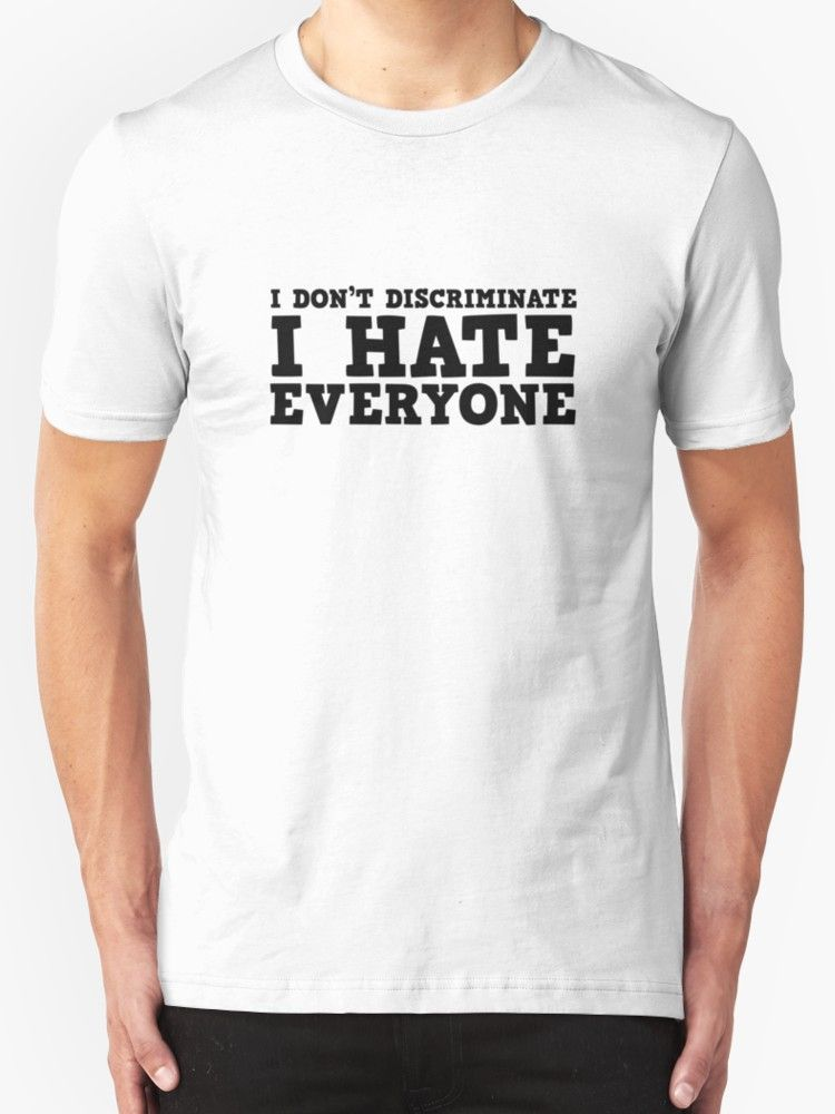 «Funny I Hate Everyone Free speech Protest Ironic » de Sid3walkArt