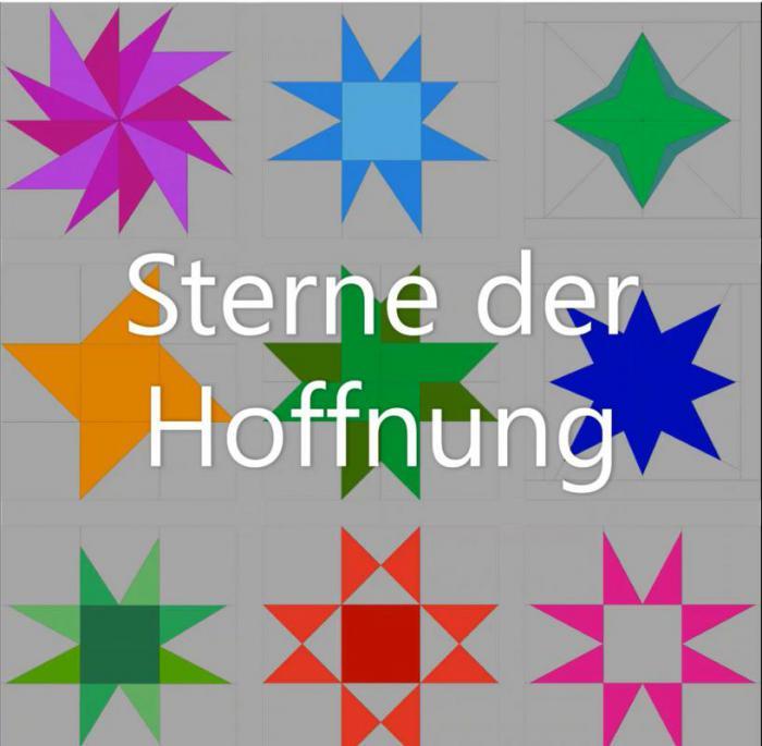 Sterne Der Hoffnung Patchwork Gilde Deutschland E V In 2020 Sterne Nahen Auf Papier Sterne Nahen
