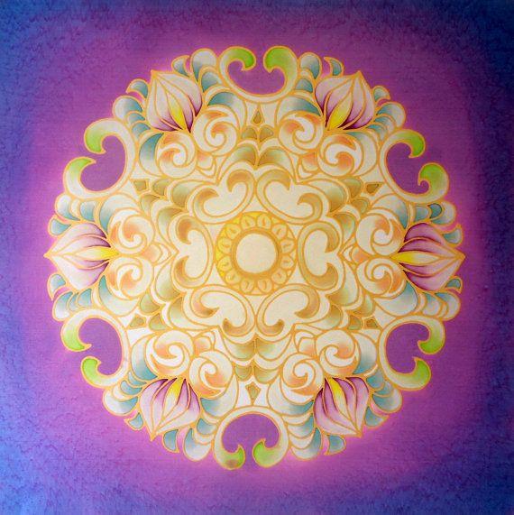 silk mandala / designed and painted by Andrea Kanne / by Mandala9