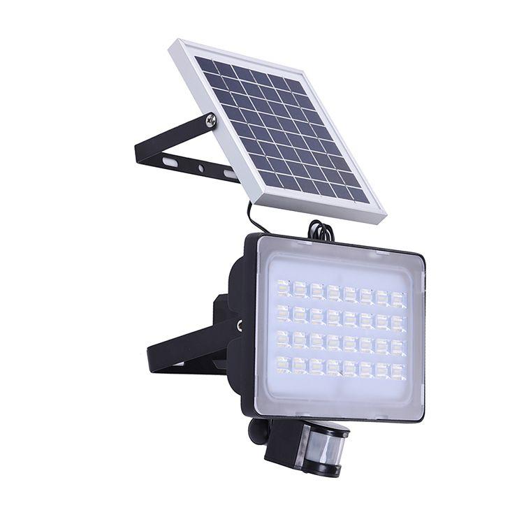 High Lumen 50w Led Light Solar Power Outdoor Lighting 6000k Cold White Solar Led Floodligh Solar Powered Lamp Motion Sensor Lights Outdoor Motion Sensor Lights