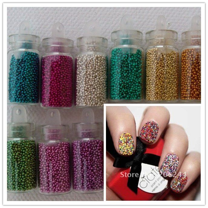 Caviar Nail Art Beads Tiny Circle Balls Decoration 3d Nail Art