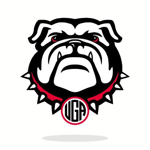 monogram, georgia bulldogs, uga, vector, die cut files, dxf, svg